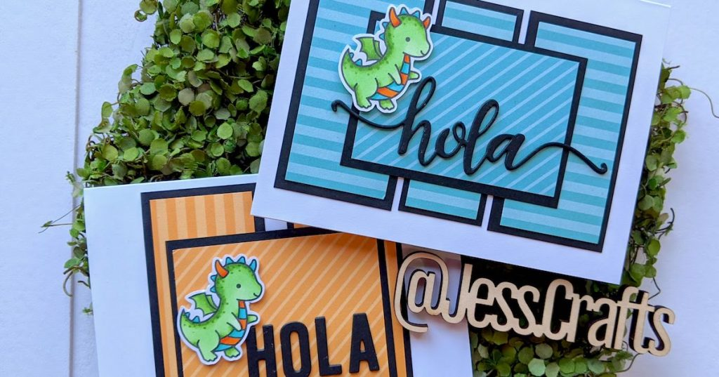 Hola Card featuring Lawn Fawn Dragon