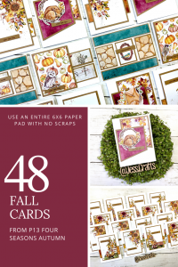 Make 48 Fall Cards with NO Scraps by Jess Crafts