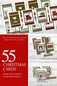 Make 55 Christmas Cards with NO Scraps by Jess Crafts