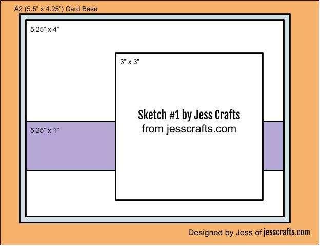 Card Sketch #1 by Jess Crafts