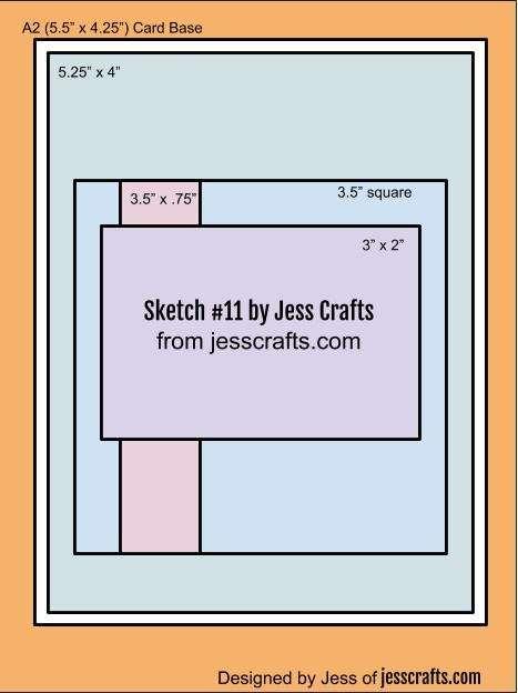 Card Sketch #11 by Jess Crafts
