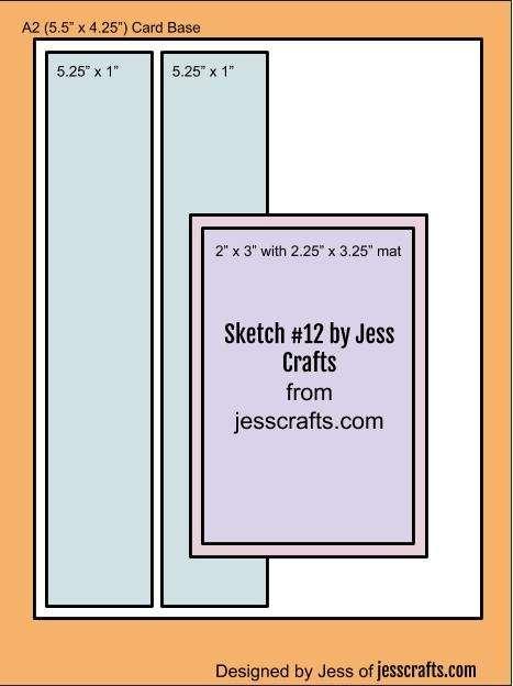 Card Sketch #12 by Jess Crafts