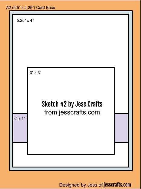 Card Sketch #2 by Jess Crafts