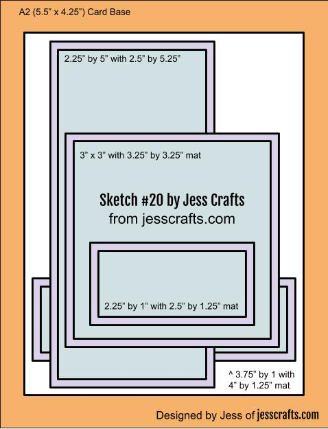 Card Sketch #20  by Jess Crafts