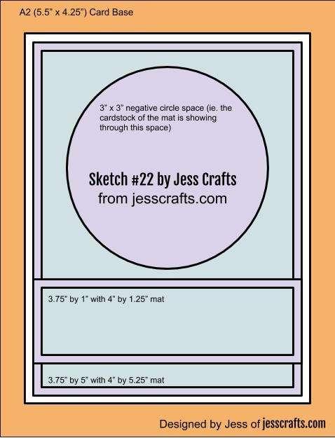 Card Sketch #22 by Jess Crafts