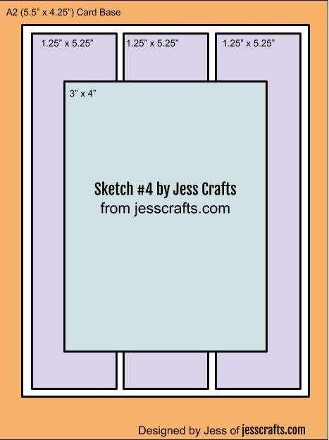 Card Sketch #4 by Jess Crafts