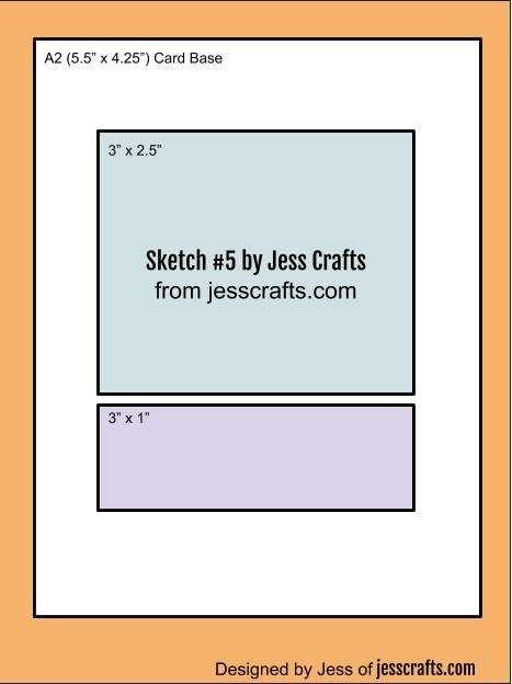 Card Sketch #5 by Jess Crafts