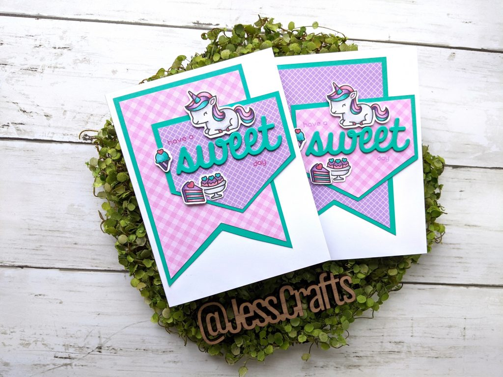 Card for One Sheet Wonder Cardmaking Template #19 by Jess Crafts