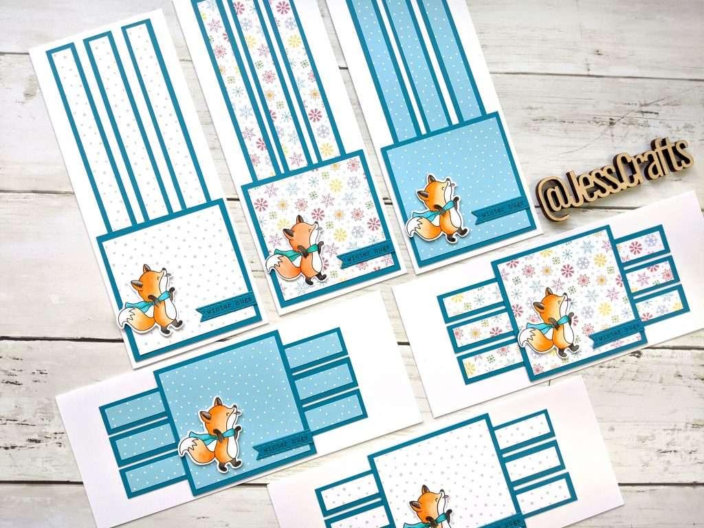Card for Slimline One Sheet Wonder Cardmaking Template #5 by Jess Crafts