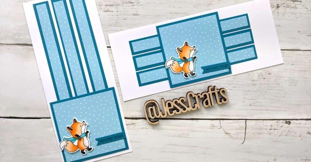 Slimline One Sheet Wonder Card #5 by Jess Crafts featuring Hello Bluebird