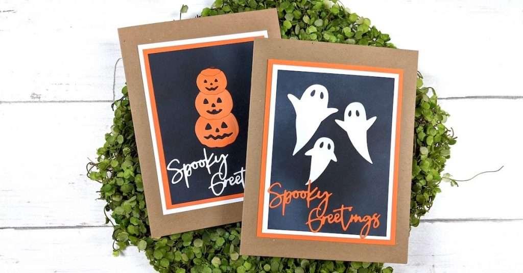 simple Halloween cards with Spellbinders