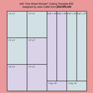 Cutting Template for One Sheet Wonder Cardmaking Template #25 by Jess Crafts