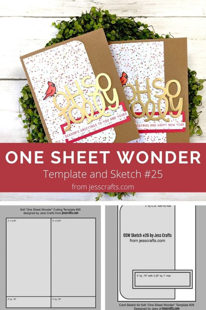 Card for One Sheet Wonder Cardmaking Template #26 by Jess Crafts