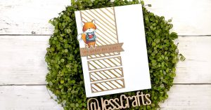 Card for One Sheet Wonder Cardmaking Template #27 by Jess Crafts