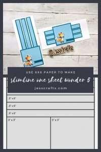 Slimline One Sheet Wonder Cardmaking Template #5 by Jess Crafts